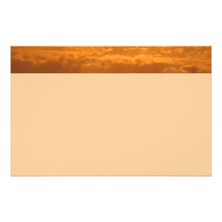 Golden Clouds Stationery Paper