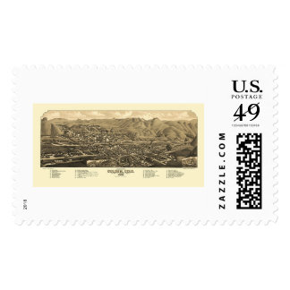 Golden, CO Panoramic Map - 1882 Stamp