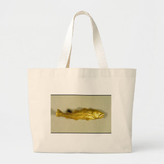 Golden codfish totebag. large tote bag