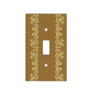 Golden Coffee Light Switch Cover