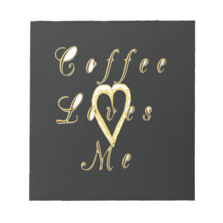 Golden Coffee love me. Notepad