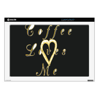"Golden Coffee Nice and Lovely Customize Product Decal For 17"" Laptop"