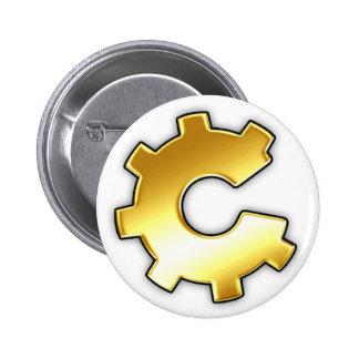 Golden CoG Logo 2 Inch Round Button