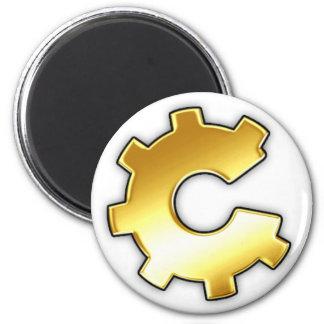 Golden CoG Logo 2 Inch Round Magnet