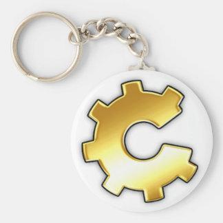 Golden CoG Logo Basic Round Button Keychain