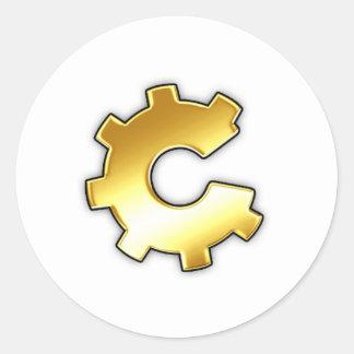 Golden CoG Logo Classic Round Sticker