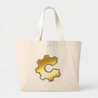 Golden CoG Logo Large Tote Bag