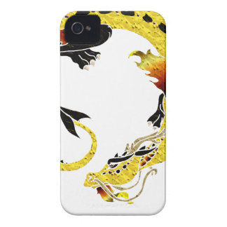Golden Coiled Dragon Case-Mate iPhone 4 Cases