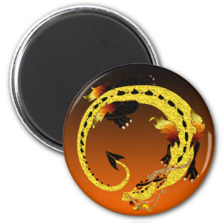 Golden Coiled Dragon Magnet