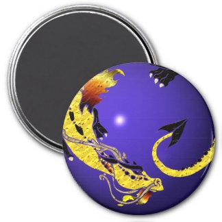 Golden Coiled Dragon Magnet