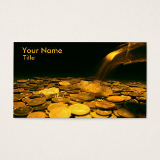 Golden Coin Business Card