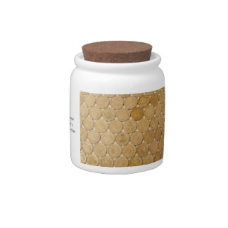 Golden Coins Candy Jar