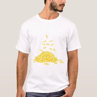 Golden Coins Mens T-Shirt