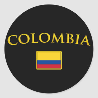 Golden Colombia Classic Round Sticker