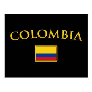 Golden Colombia Postcard