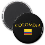 Golden Colombia Refrigerator Magnet