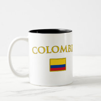 Golden Colombia Two-Tone Coffee Mug