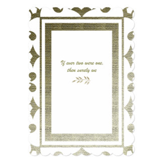 Golden Colonial Poetry Wedding Invitation