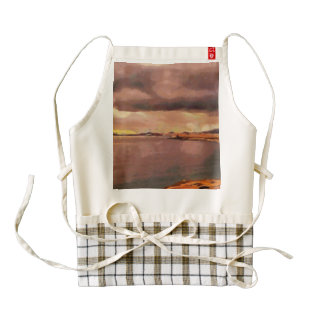 Golden color of sunset zazzle HEART apron