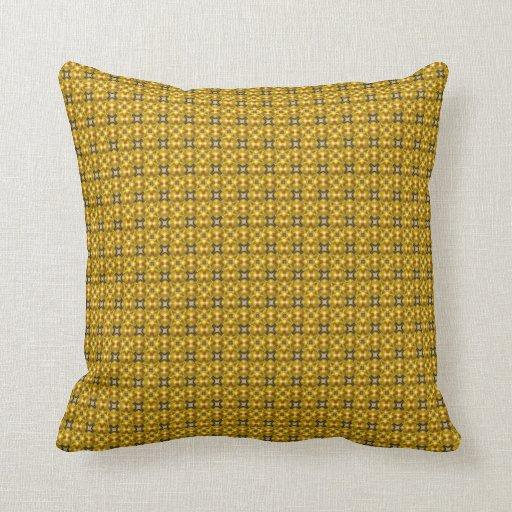 Golden color ornament pillow