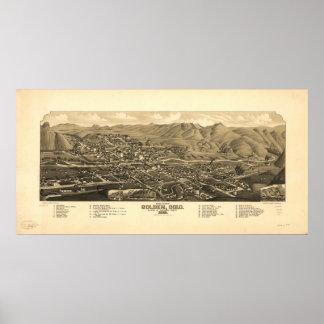 Golden Colorado 1882 Panoramic Map Poster