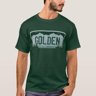 Golden Colorado guys license plate tee