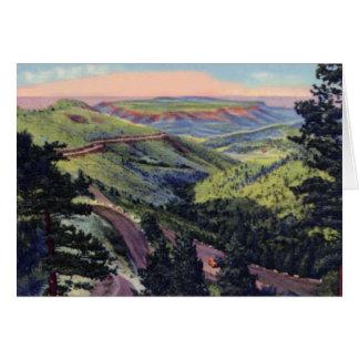 Golden Colorado Lookout Mt from Buffalo Bill's Gra Card