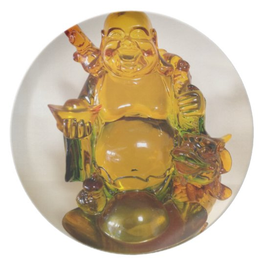 Golden colored budda plate