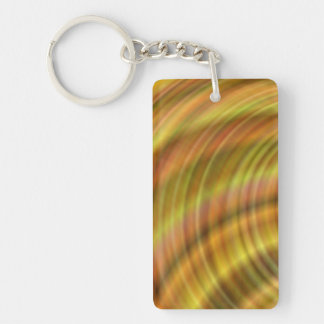 Golden colorful design keychain
