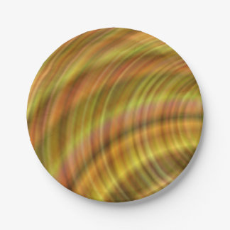 Golden colorful design paper plate