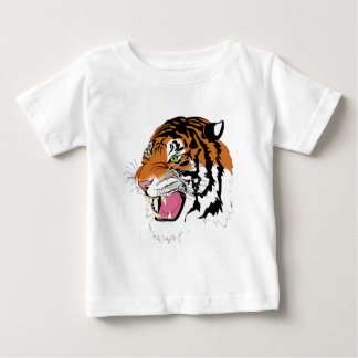Golden Colred Tiger With Pink Tongue Shirt