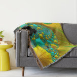 Golden Cone Throw Rug Living Room Design