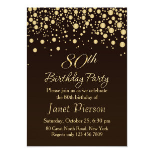 80th Birthday Party Invitations Announcements Zazzle