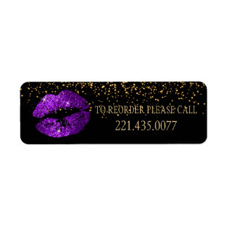 Golden Confetti & Purple Lips 2 - Reorder Label