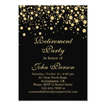 Golden confetti Retirement Party Invitation
