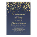 Golden Confetti Retirement Party Invitation at Zazzle
