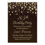 Golden confettti 85th Birthday Party Invitation