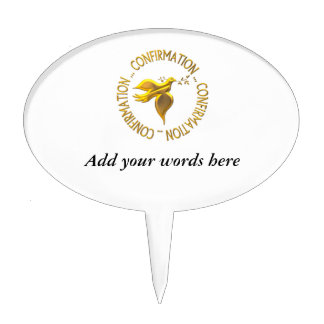 Golden Confirmation and Holy Spirit Cake Topper