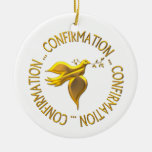 Golden Confirmation and Holy Spirit Ceramic Ornament