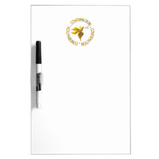 Golden Confirmation and Holy Spirit Dry Erase Board