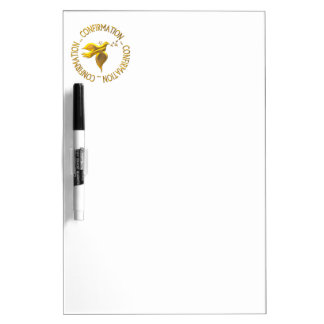 Golden Confirmation and Holy Spirit Dry-Erase Board