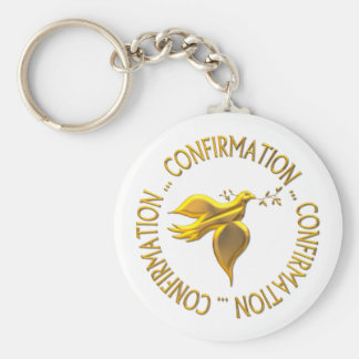 Golden Confirmation and Holy Spirit Keychain