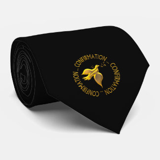 Golden Confirmation and Holy Spirit Neck Tie