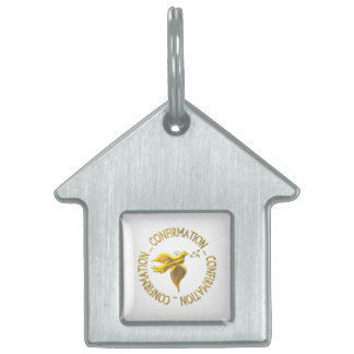 Golden Confirmation and Holy Spirit Pet ID Tag