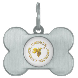 Golden Confirmation and Holy Spirit Pet Tag