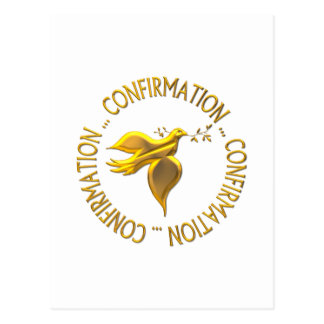 Golden Confirmation and Holy Spirit Postcard