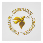 Golden Confirmation and Holy Spirit Poster