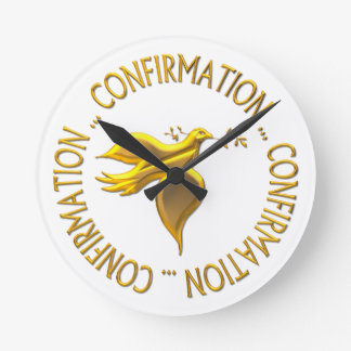 Golden Confirmation and Holy Spirit Round Clock