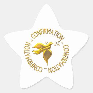 Golden Confirmation and Holy Spirit Star Sticker