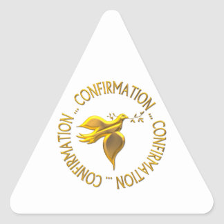 Golden Confirmation and Holy Spirit Triangle Sticker